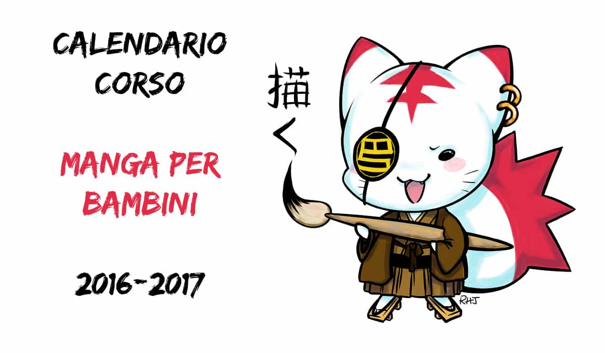 Calendario corso Manga per Bambini